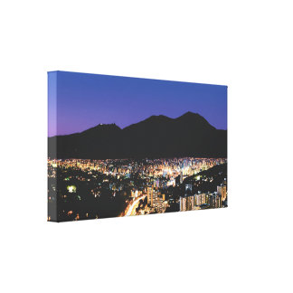 Panoramic night view of Caracas, Vzla Canvas Print
