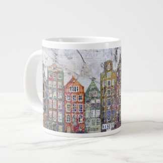 Panoramic of Dutch Row Houses Large Coffee Mug