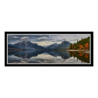Panoramic of Lake McDonald, GNP, Montana Poster