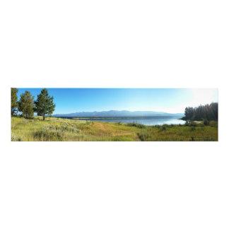 Panoramic of Phillips Lake, Oregon Photo Print