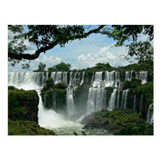 Panoramic Of The Iguazu Falls Postcard