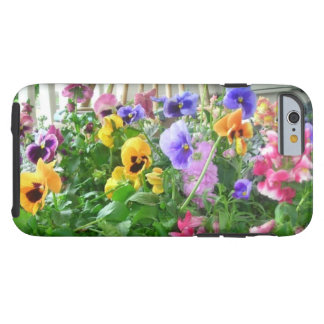 Panoramic Pansies iPhone 6 case