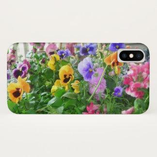 Panoramic Pansies iPhone X Case