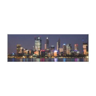 Panoramic Perth City Skyline Canvas