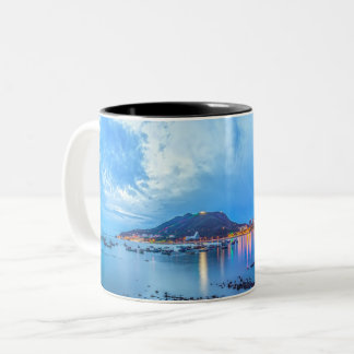 Panoramic Seaside vista of Vung Tau, Vietnam Two-Tone Coffee Mug