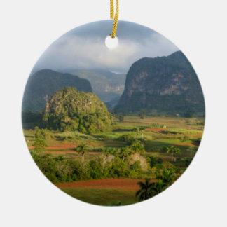 Panoramic valley landscape, Cuba Ceramic Ornament