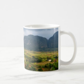 Panoramic valley landscape, Cuba Coffee Mug