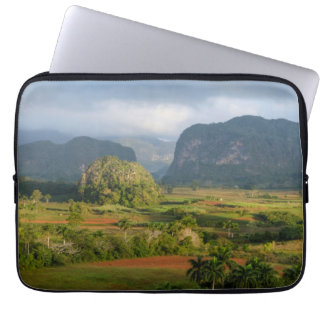 Panoramic valley landscape, Cuba Laptop Computer Sleeve