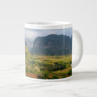 Panoramic valley landscape, Cuba Large Coffee Mug