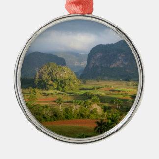 Panoramic valley landscape, Cuba Metal Ornament