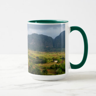 Panoramic valley landscape, Cuba Mug