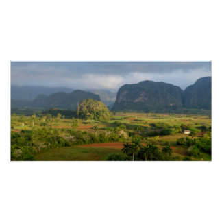 Panoramic valley landscape, Cuba Poster