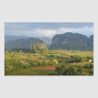 Panoramic valley landscape, Cuba Sticker