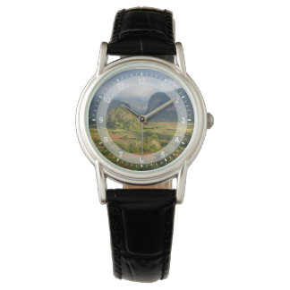 Panoramic valley landscape, Cuba Wrist Watch