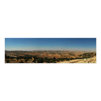 Panoramic view from Tomb of Samuel, Israel Poster