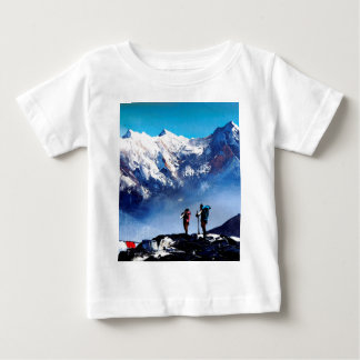 Panoramic View Of Ama Dablam Peak Everest Mountain Baby T-Shirt