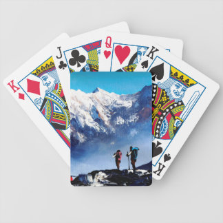 Panoramic View Of Ama Dablam Peak Everest Mountain Bicycle Playing Cards