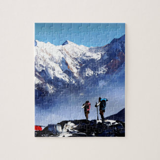 Panoramic View Of Ama Dablam Peak Everest Mountain Jigsaw Puzzle