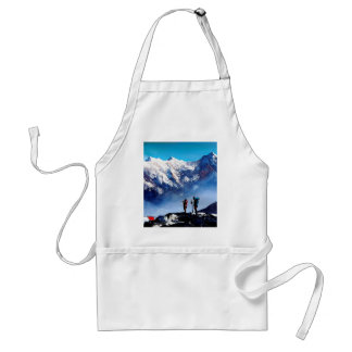 Panoramic View Of Ama Dablam Peak Everest Mountain Standard Apron