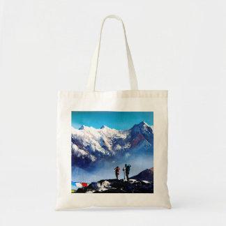 Panoramic View Of Ama Dablam Peak Everest Mountain Tote Bag
