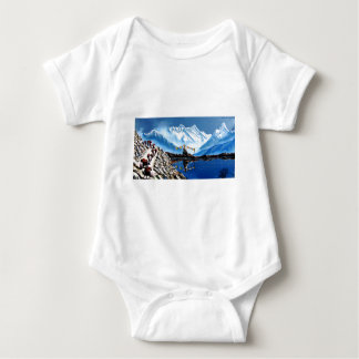 Panoramic View Of Annapurna Mountain Nepal Baby Bodysuit