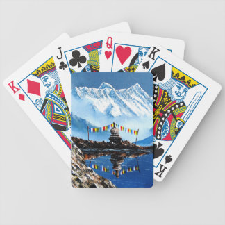 Panoramic View Of Annapurna Mountain Nepal Bicycle Playing Cards