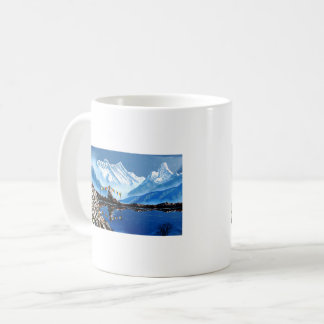 Panoramic View Of Annapurna Mountain Nepal Coffee Mug