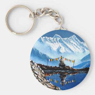 Panoramic View Of Annapurna Mountain Nepal Keychain