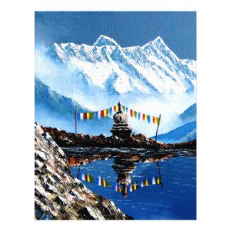 Panoramic View Of Annapurna Mountain Nepal Letterhead