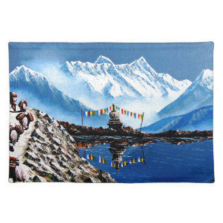 Panoramic View Of Annapurna Mountain Nepal Placemats