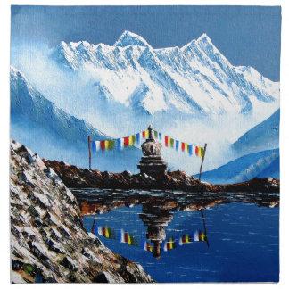 Panoramic View Of Annapurna Mountain Nepal Printed Napkins