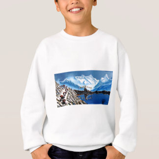 Panoramic View Of Annapurna Mountain Nepal Sweatshirt