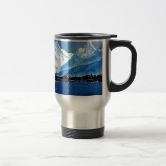 Panoramic View Of Annapurna Mountain Nepal Travel Mug