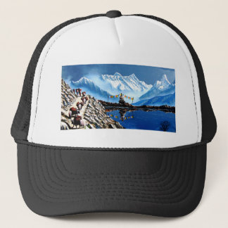 Panoramic View Of Annapurna Mountain Nepal Trucker Hat