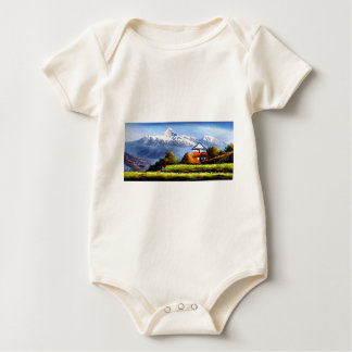 Panoramic View Of Beautiful Everest Mountain Baby Bodysuit