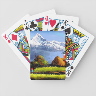 Panoramic View Of Beautiful Everest Mountain Bicycle Playing Cards