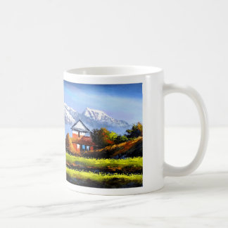 Panoramic View Of Beautiful Everest Mountain Coffee Mug