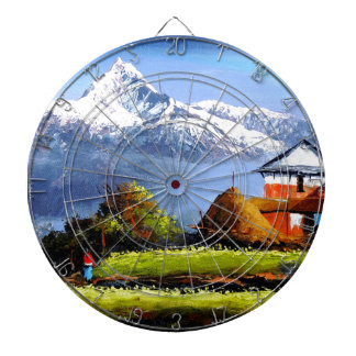 Panoramic View Of Beautiful Everest Mountain Dartboard