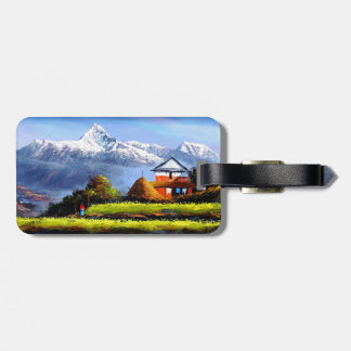Panoramic View Of Beautiful Everest Mountain Luggage Tag
