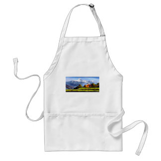 Panoramic View Of Beautiful Everest Mountain Standard Apron