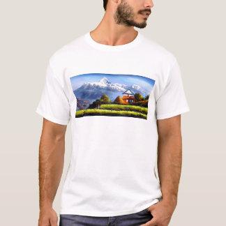Panoramic View Of Beautiful Everest Mountain T-Shirt