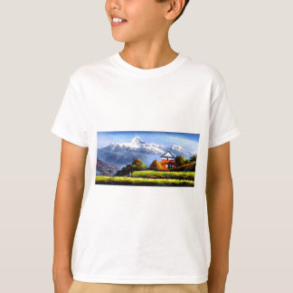 Panoramic View Of Beautiful Everest Mountain T-Shirt
