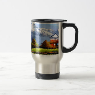 Panoramic View Of Beautiful Everest Mountain Travel Mug