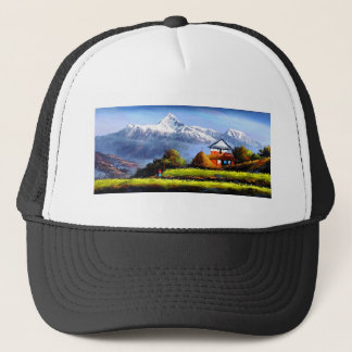 Panoramic View Of Beautiful Everest Mountain Trucker Hat