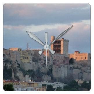 Panoramic view of Cagliari Square Wall Clock