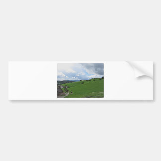 Panoramic view of Castelrotto Bumper Sticker
