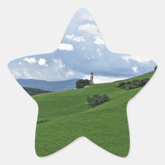 Panoramic view of Castelrotto Star Sticker