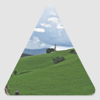 Panoramic view of Castelrotto Triangle Sticker