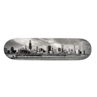 Panoramic view of Chicago skyline in winter Skate Decks