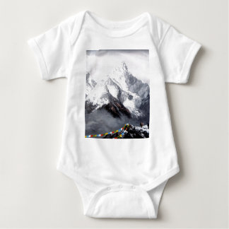 Panoramic View Of Everest Mountain Baby Bodysuit